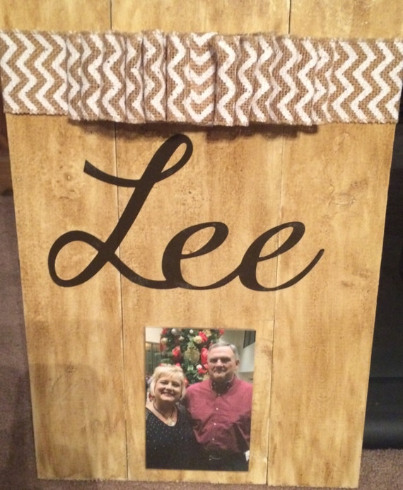 Personalized Wood Wall Decor : Personalized wood decor with frame