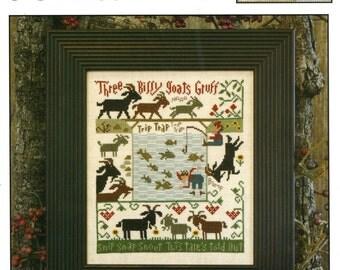 3 Billy Goats Gruff by Prairie Schooler Counted Cross Stitch Pattern/Chart