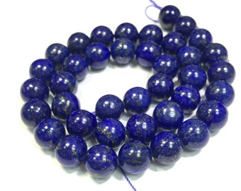 Lapis Lazuli Beads 6mm 8mm 10mm 12mm Blue Mala Beads Lapis Mala Blue Gemstone Beads Blue Gold Jewelry Supplies Beads