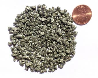 Crushed Pyrite or Fool's Gold, Coarse, 1 Ounce