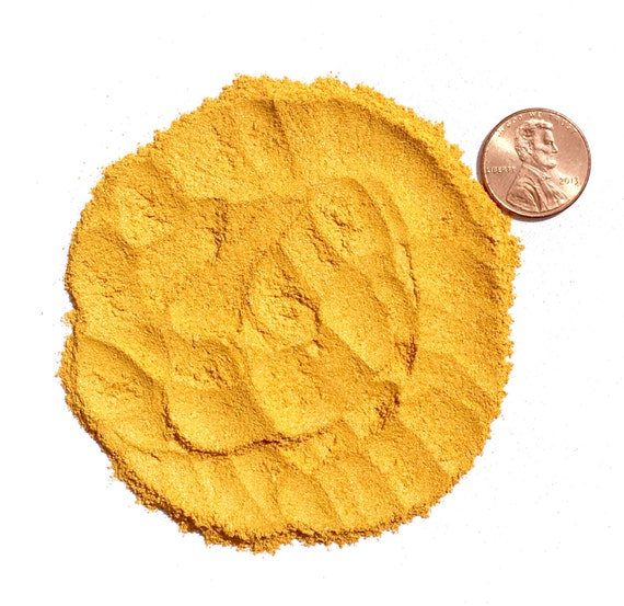 Crushed Gemstone For Inlays : Crushed orpiment stone inlay powder ounce