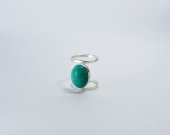 Starchild Silver platted ring with turquoise stone