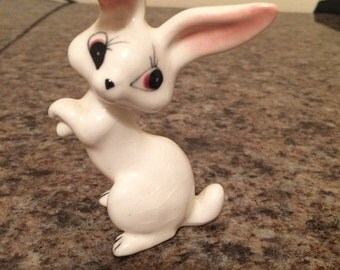 Small Vintage White Porcelain Rabbit