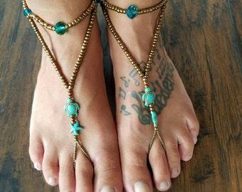 Honu Turtle Barefoot Sandals