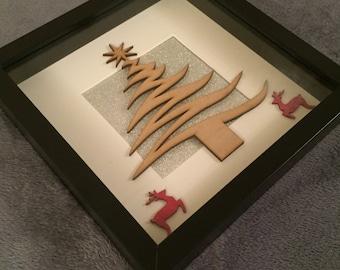 Personalise Christmas Tree Frame