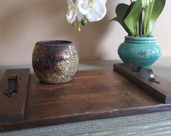 Rustic Wood Tray Home Decor