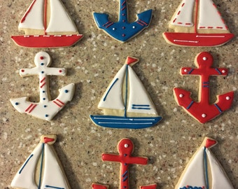 Sailor Themed Cookies
