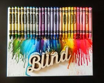 Color Blind Canvas 8X10