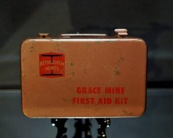 Vintage Bethlehem Steel First Aid Kit: Grace Mine