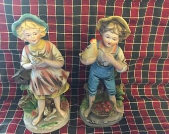 Homco figurine set