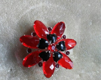 1960 vintage red pin