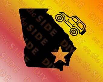 SVG Cut File Georgia Jeep SouthEast Instant Download
