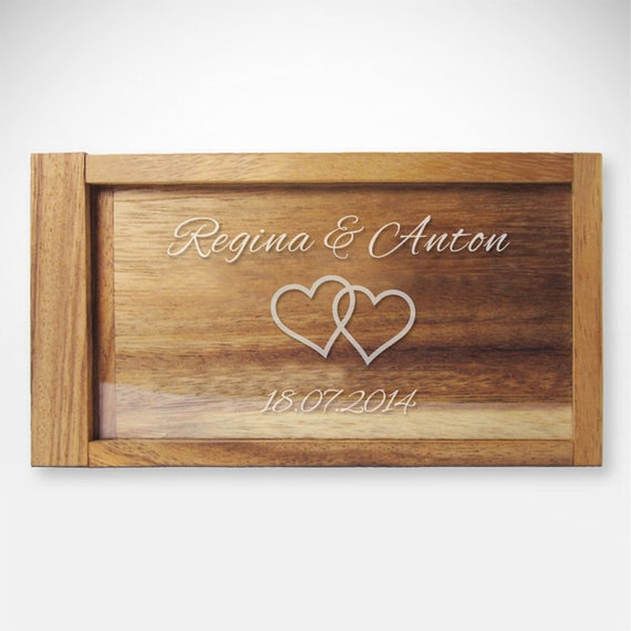 Magic Money Gift Box – Personalised Wedding Gift - Engraved with Names and Date
