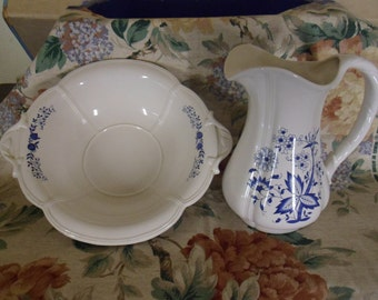 Royal Haeger Water Pitcher and Basin