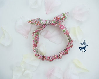 Headband baby / child liberty to anjo pink
