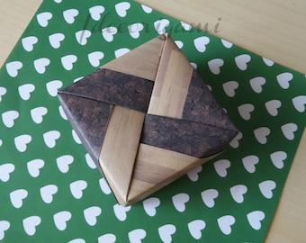 Origami box midi lightwood-darkcork