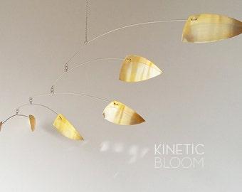 midcentury brass mobile, calder mobile, kinetic, mobiles, hanging sculpture