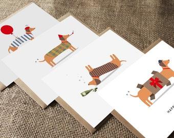 Birthday Card Pack - Silly sausage - Sausage dog - Greetings card - Happy Birthday - Bundle