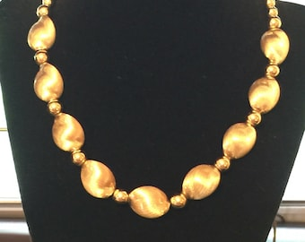 Park Lane Charming Oval Gold Tone Beaded Choker Necklace