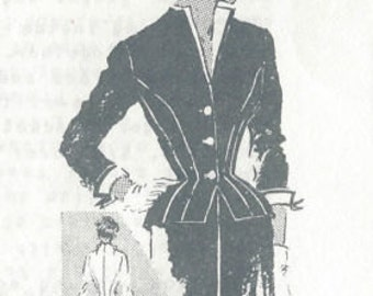 "1950s Vintage Sewing Pattern B36 1/2"" SUIT-JACKET & SKIRT (230) By Spadea 1169 - Designed by Brigance of Frank Gallant"