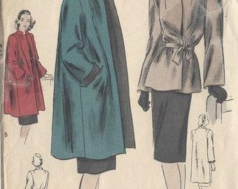 "1940s Vintage VOGUE Sewing Pattern B34""-36"" COAT & JACKET (R99) Vogue 5103"