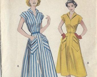 "1950s Vintage Sewing Pattern B34"" DRESS (R177)  Butterick  6020"