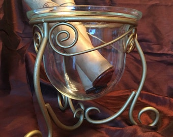 Pretty candle holder vase