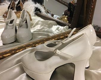White Platform Heel