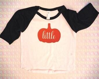 Little Pumpkin Raglan Tee