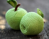 APPLE Crochet Pattern PDF - Crochet apple pattern, Amigurumi apple crochet pattern Crochet fruit pattern Crochet food patern Play Food Apple