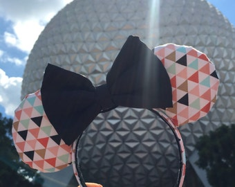 Triangle Pattern Minnie Mouse Ears