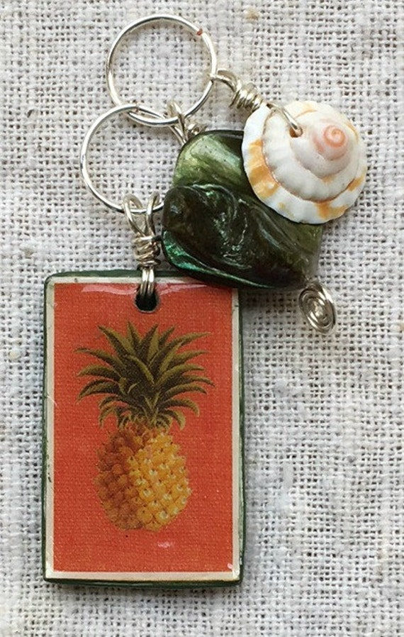 Pineapple pendant, pineapple necklace, pineapple charm, pineapple jewelry, fruit pendant, tiny pineapple, small pineapple, jewelry pendant