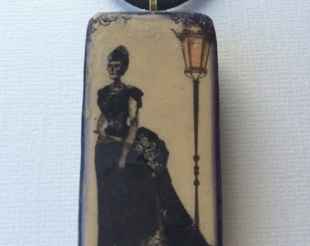 Halloween jewelry Halloween necklace pendant necklace gothic vintage Victorian corpse bride