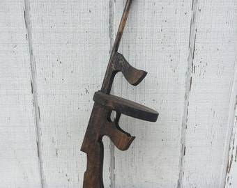 Toy Wooden Tommy Gun