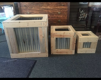 Rustic planter boxes