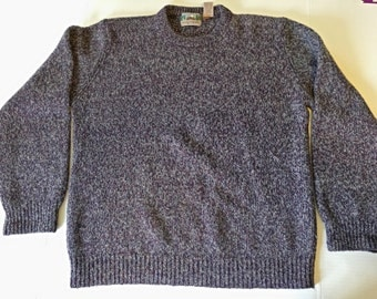 Vintage Purple EMS Wool Sweater size Large