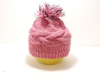 "Sale 40% Kids Knit Hat: ""PINK HAT"" Crochet Infant Hat , Pink Newborn Girl and Boy Hat , Handmade kids hat unique baby gift , A114"
