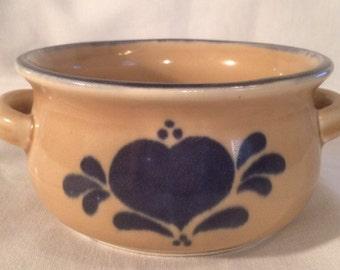 NCE 1986 Bowl Double Handle stoneware soup bowl