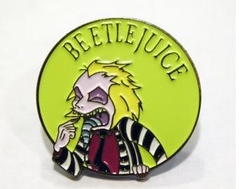 Beetlejuice Enamel Pin