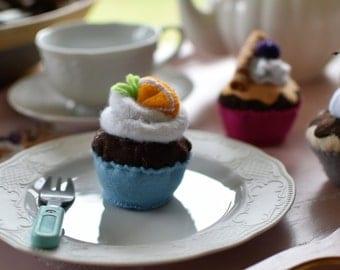 cupcake with orange