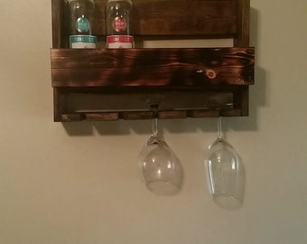 Handcrafted Wall-mounted Wine Rack