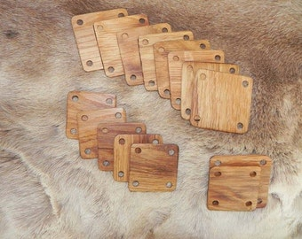 12 / 24 cards for 6 X 6 cm braid weaving (card weaving crafts weave tablet weave plate medieval viking Tablet)