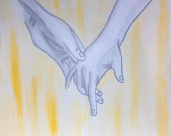 Yellow Holding Hands