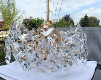 Kinkeldey chandelier Crystal 70s 60s