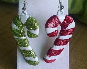 christmas candy cane earrings