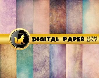 Purple Vintage Background,Vintage Paper,Purple paper,Vintage Scrapbook Paper,Vintage Backdrop,digital paper,Old Background,scrapbook paper