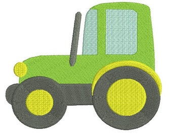 Tractor EMBROIDERY Design Fill Design Machine Embroidery Instant Download ER207F