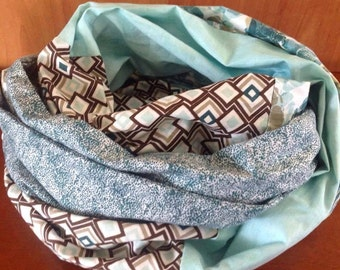 adult infinity scarf TURQUOISE