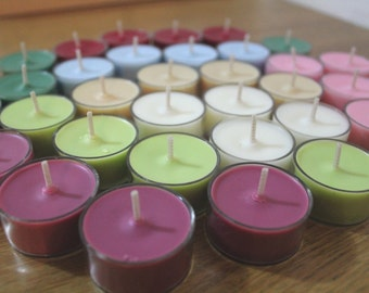 Soy Tea Lights - All you can choose (Natural Soywax, Set of 6)