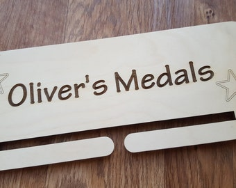 Personalised Medal Holder Wooden Medals Display Marathon Gift Running Football Dancing Gymnastics Sports Run Girls Boys Hanger Present